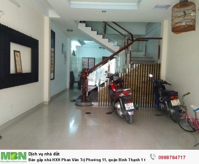 Bán gấp nhà HXH Phan Văn Trị Phường 11, quận Bình Thạnh 1 trệt 3 lầu giá thương lượng