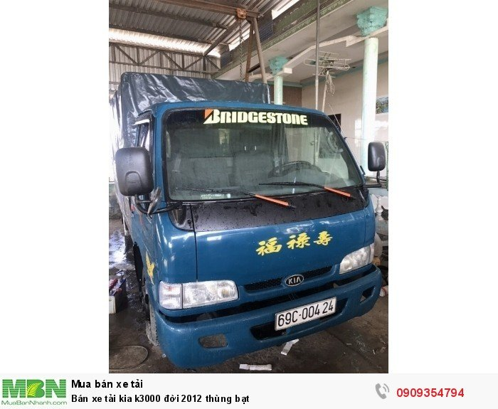 Bán xe tải kia k3000 đời 2012 thùng bạt