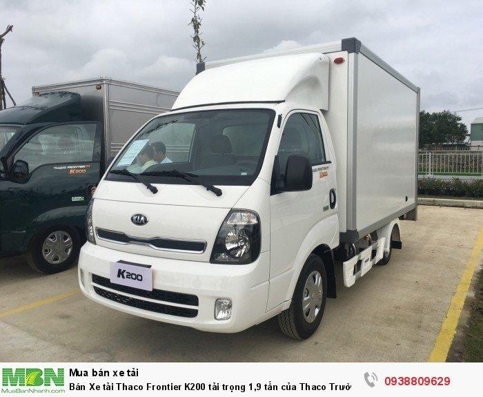 Bán Xe tải Thaco Frontier K200 tải trọng 1,9 tấn của Thaco Trường Hải 3