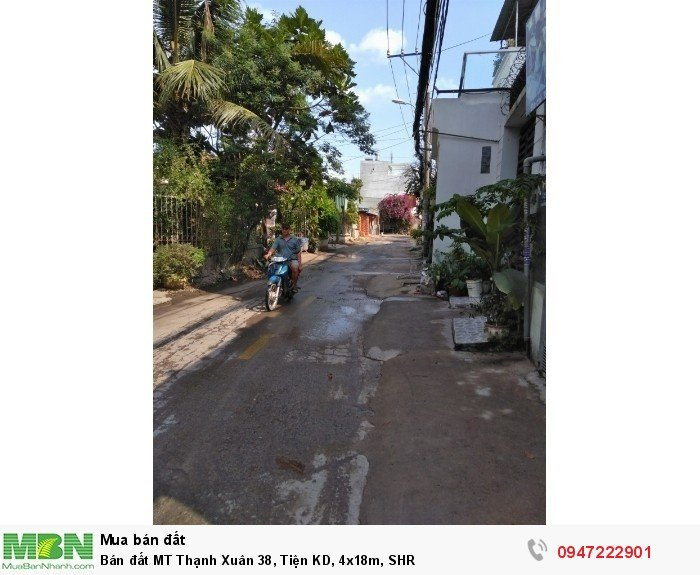 Bán đất MT Thạnh Xuân 38, Tiện KD, 4x18m, SHR