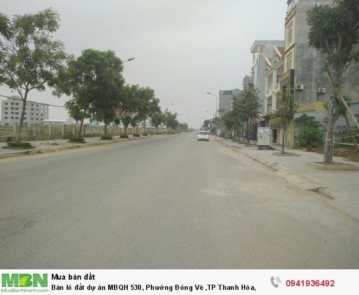 Bán lô đất dự án MBQH 530, Phường Đông Vê ,TP Thanh Hóa,