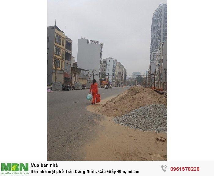 Bán nhà mặt phố Trần Đăng Ninh, Cầu Giấy 40m, mt 5m