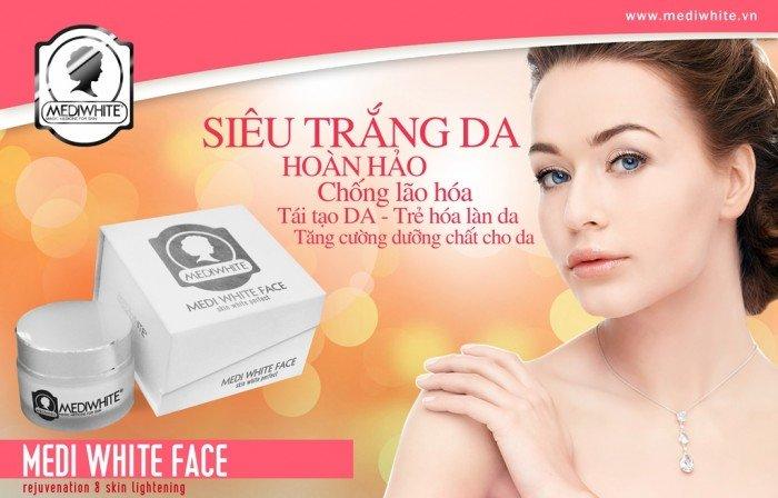 Kem làm trắng da mặt Medi White Face1