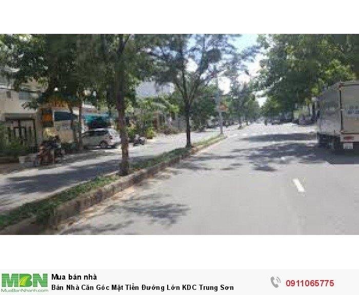 Bán Nhà Căn Góc Mặt Tiền Đường Lớn KDC Trung Sơn