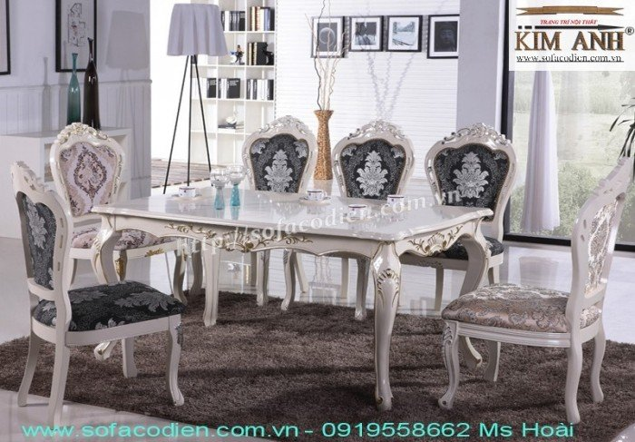 [12] Giá bàn ăn cổ điển TPHCM, Nơi bán bàn ghế ăn tân cổ điển uy tín giá rẻ