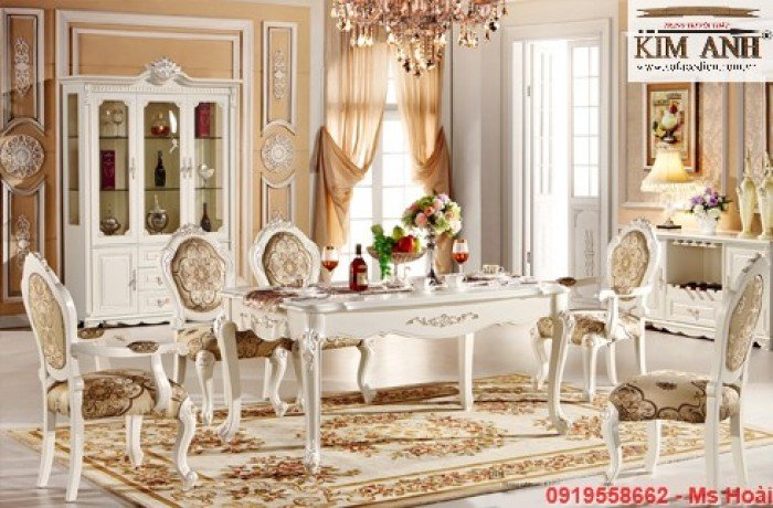[11] Giá bàn ăn cổ điển TPHCM, Nơi bán bàn ghế ăn tân cổ điển uy tín giá rẻ