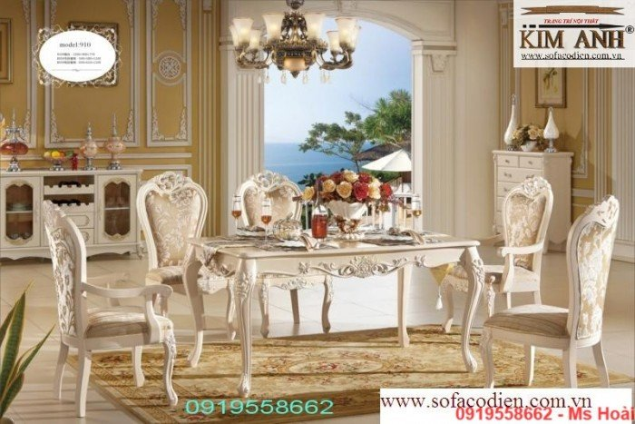 [9] Giá bàn ăn cổ điển TPHCM, Nơi bán bàn ghế ăn tân cổ điển uy tín giá rẻ
