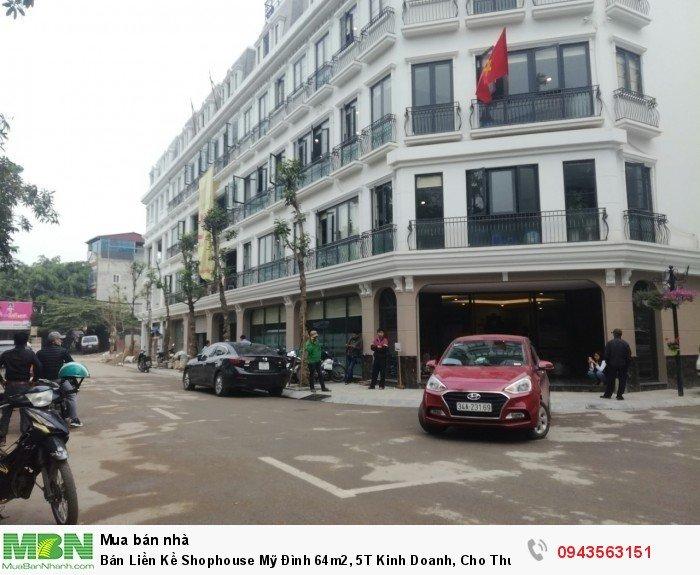 Bán Liền Kề Shophouse Mỹ Đình 64m2, 5T Kinh Doanh, Cho Thuê
