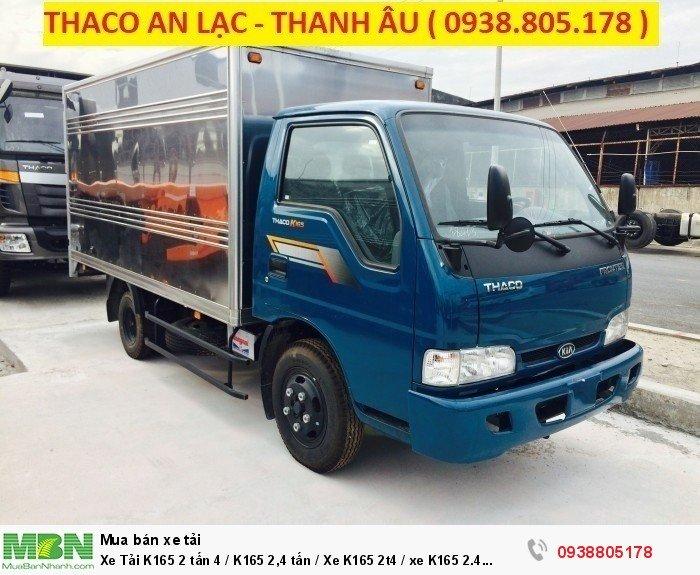 Xe Tải K165 2 tấn 4 / K165 2,4 tấn / Xe K165 2t4 / xe K165 2.4 tấn thaco trường hải, hỗ trợ trả góp 75% giá trị xe.