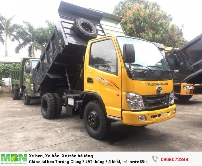 Giá xe tải ben Trường Giang 3,49T thùng 3,5 khối, trả trước 85tr, giao xe ngay 1