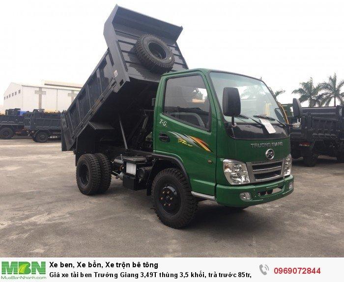 Giá xe tải ben Trường Giang 3,49T thùng 3,5 khối, trả trước 85tr, giao xe ngay 2
