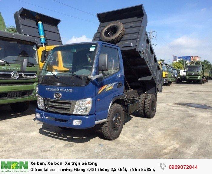 Giá xe tải ben Trường Giang 3,49T thùng 3,5 khối, trả trước 85tr, giao xe ngay 4