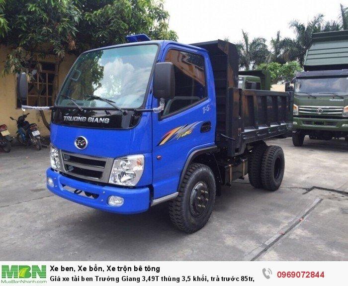 Giá xe tải ben Trường Giang 3,49T thùng 3,5 khối, trả trước 85tr, giao xe ngay 3