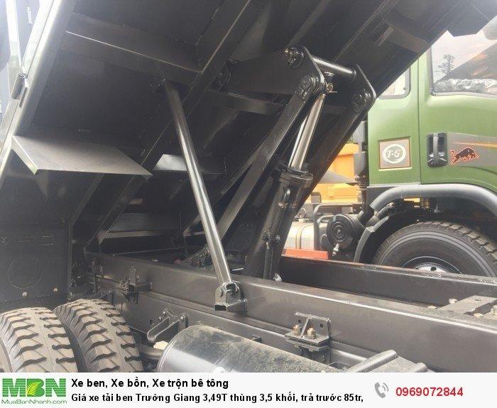 Giá xe tải ben Trường Giang 3,49T thùng 3,5 khối, trả trước 85tr, giao xe ngay 6