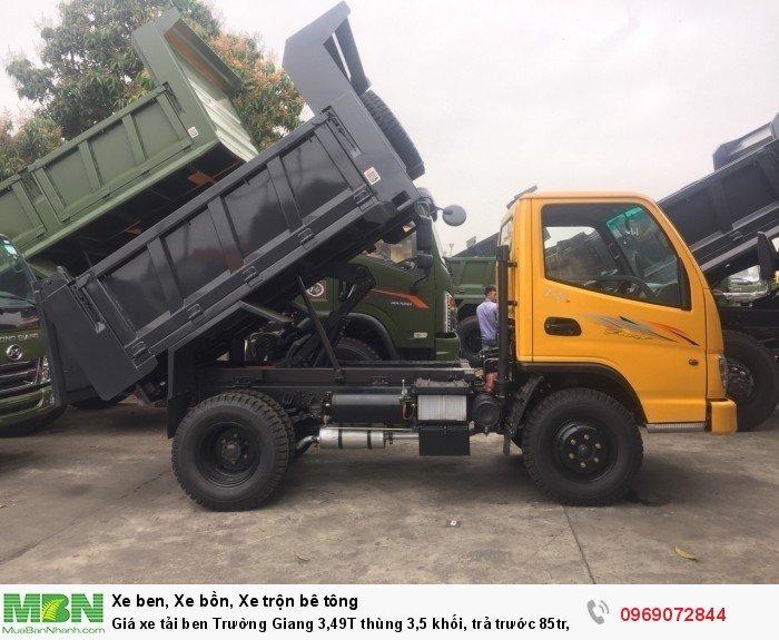 Giá xe tải ben Trường Giang 3,49T thùng 3,5 khối, trả trước 85tr, giao xe ngay 7
