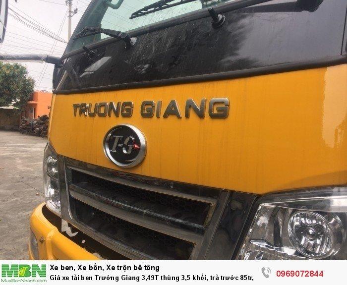 Giá xe tải ben Trường Giang 3,49T thùng 3,5 khối, trả trước 85tr, giao xe ngay 16