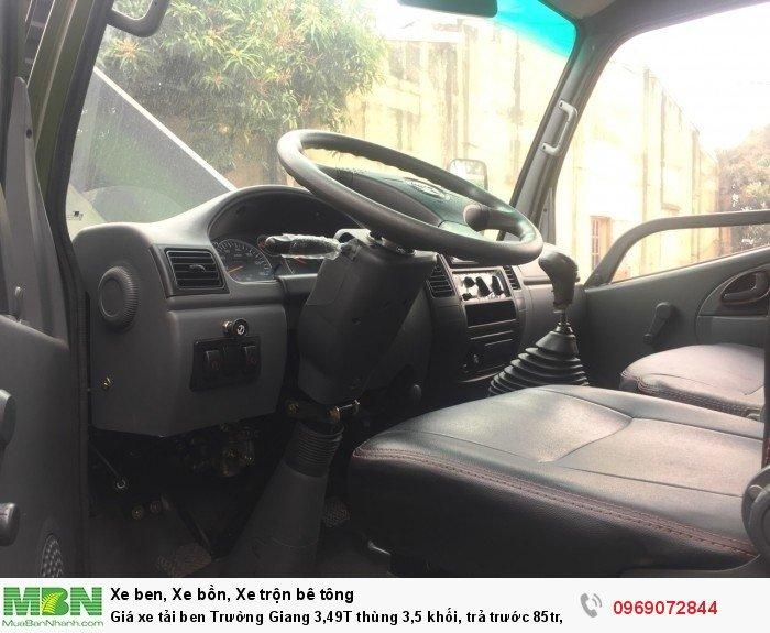 Giá xe tải ben Trường Giang 3,49T thùng 3,5 khối, trả trước 85tr, giao xe ngay 18
