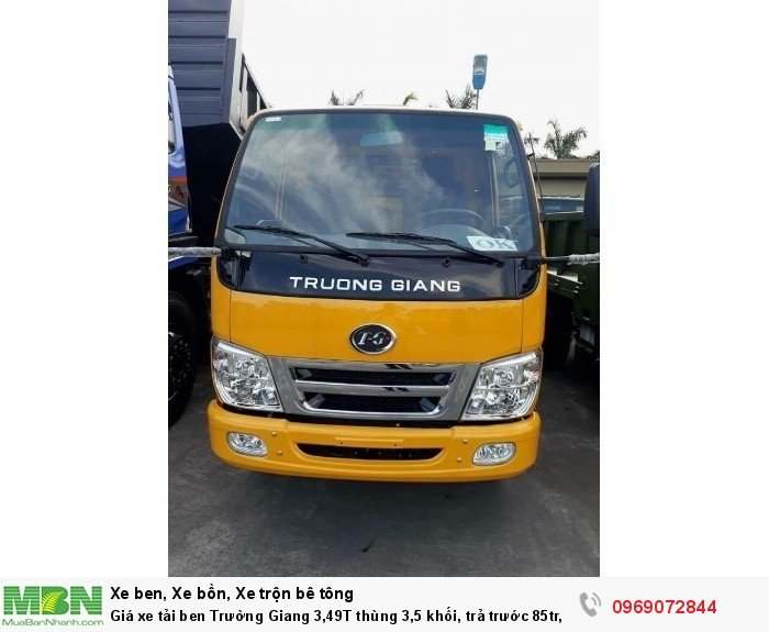 Giá xe tải ben Trường Giang 3,49T thùng 3,5 khối, trả trước 85tr, giao xe ngay 20