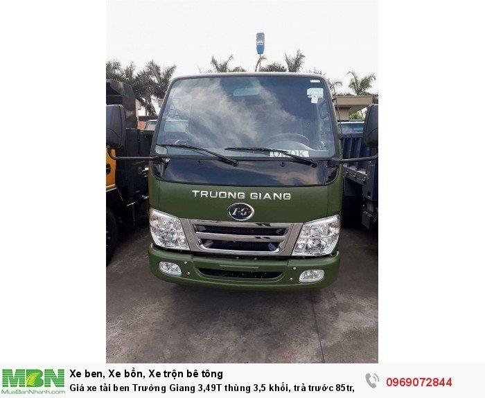 Giá xe tải ben Trường Giang 3,49T thùng 3,5 khối, trả trước 85tr, giao xe ngay 21