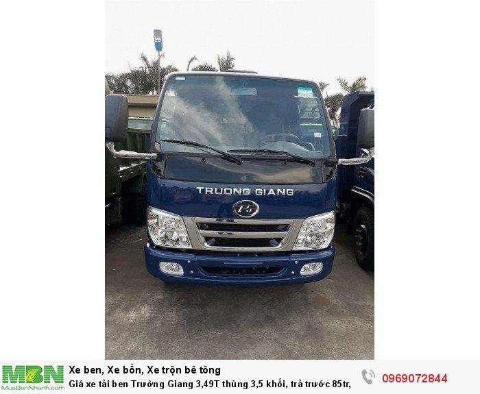 Giá xe tải ben Trường Giang 3,49T thùng 3,5 khối, trả trước 85tr, giao xe ngay 22