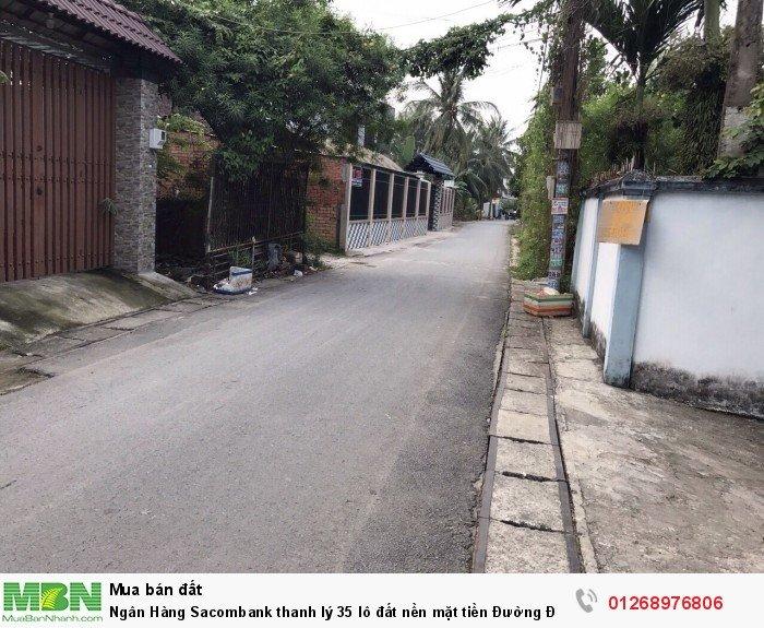 Ngân Hàng Sacombank thanh lý 35 lô đất nền mặt tiền Đường Đinh Đức Thiện.