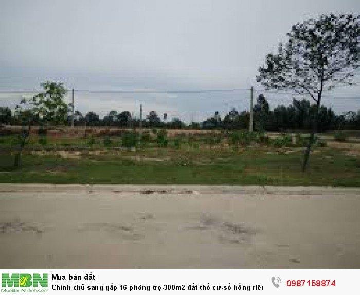 Chính chủ sang gấp 16 phòng trọ-300m2 đất thổ cư-sổ hồng riêng đất chỗ dân cư đông đúc.