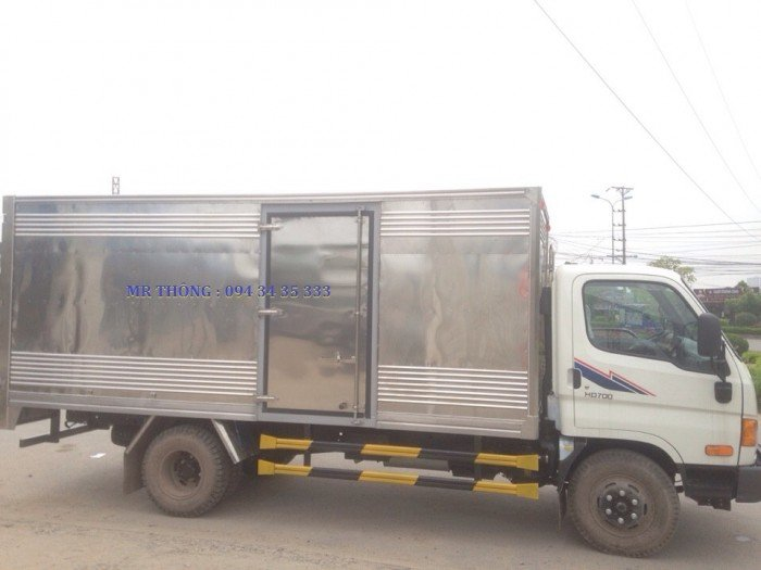 Hyundai HD700 7.0 Tấn Đồng Vàng - Thùng Kín Inox, KM Lớn, Giao xe ngay 5