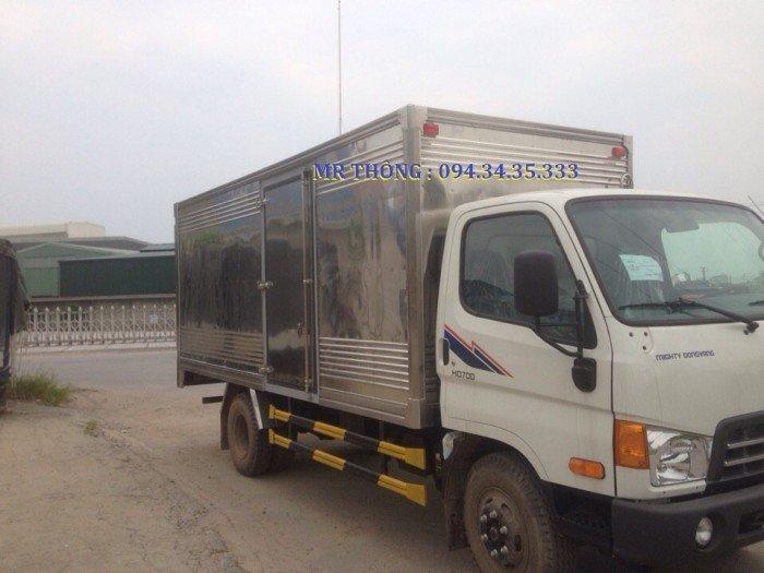 Hyundai HD700 7.0 Tấn Đồng Vàng - Thùng Kín Inox, KM Lớn, Giao xe ngay 4