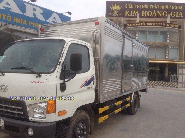 Hyundai HD700 7.0 Tấn Đồng Vàng - Thùng Kín Inox, KM Lớn, Giao xe ngay 2