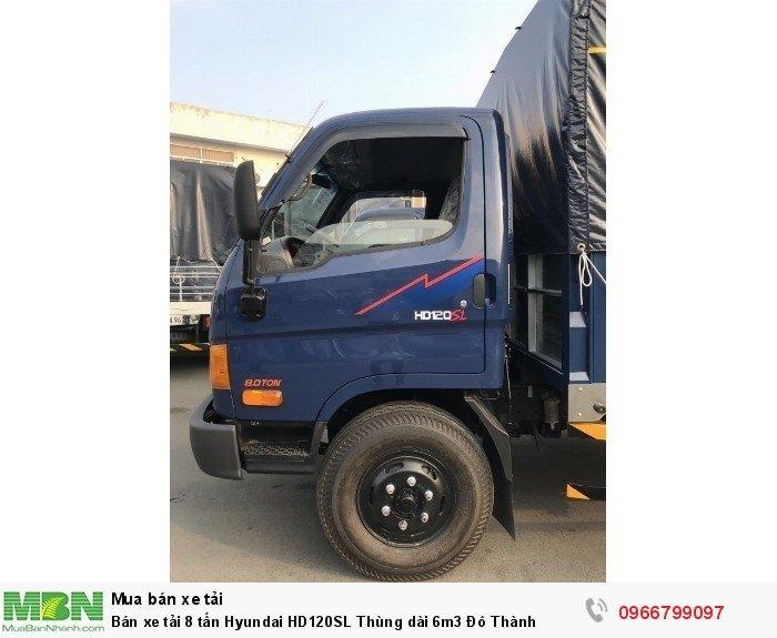 Bán xe tải 8 tấn Hyundai HD120SL Thùng dài 6m3 Đô Thành 2