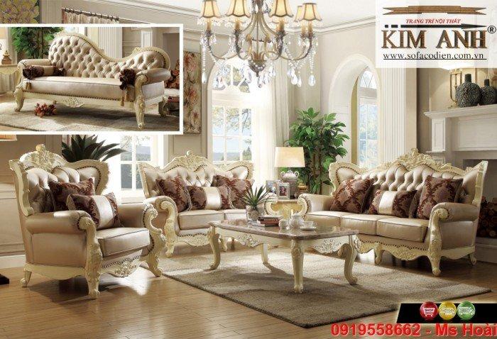 [14] Nội thất phòng khách cổ điển, sofa tân cổ điển tphcm, cần thơ giá rẻ