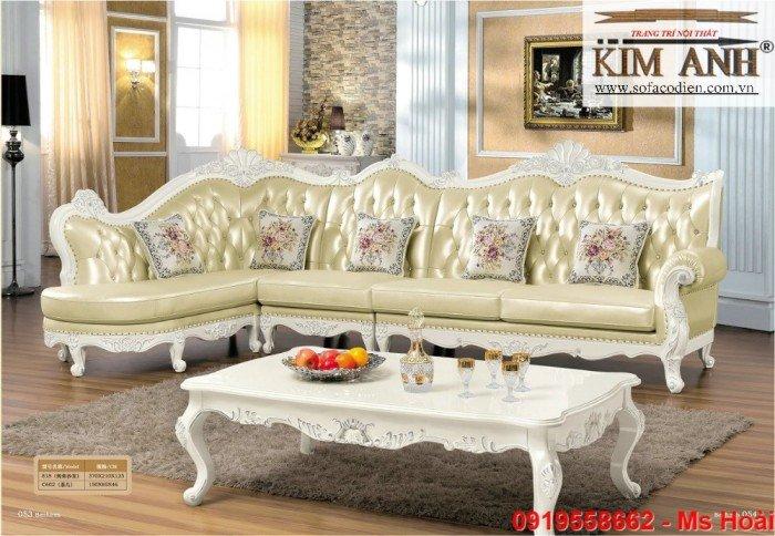 [12] Nội thất phòng khách cổ điển, sofa tân cổ điển tphcm, cần thơ giá rẻ