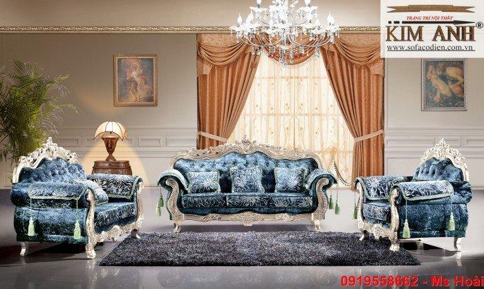 [11] Nội thất phòng khách cổ điển, sofa tân cổ điển tphcm, cần thơ giá rẻ