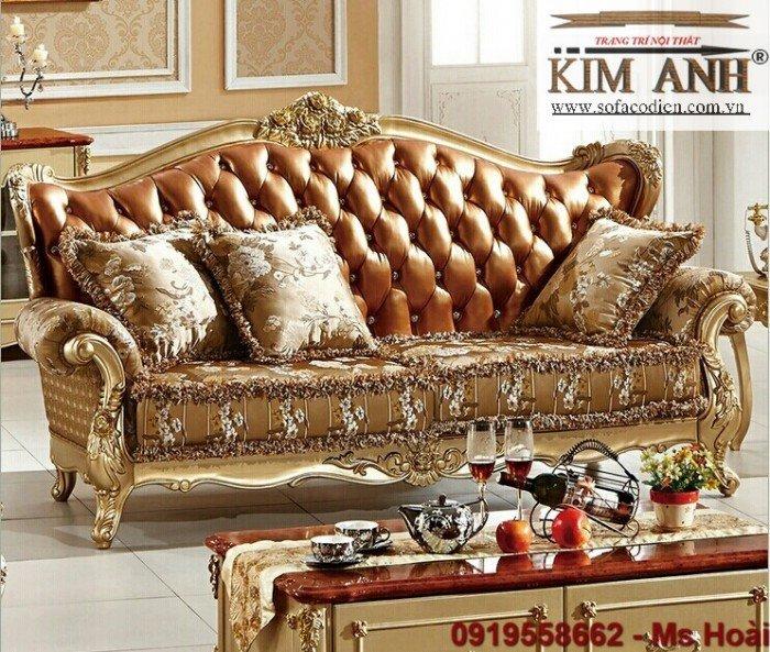 [9] Nội thất phòng khách cổ điển, sofa tân cổ điển tphcm, cần thơ giá rẻ