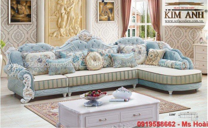 [8] Nội thất phòng khách cổ điển, sofa tân cổ điển tphcm, cần thơ giá rẻ