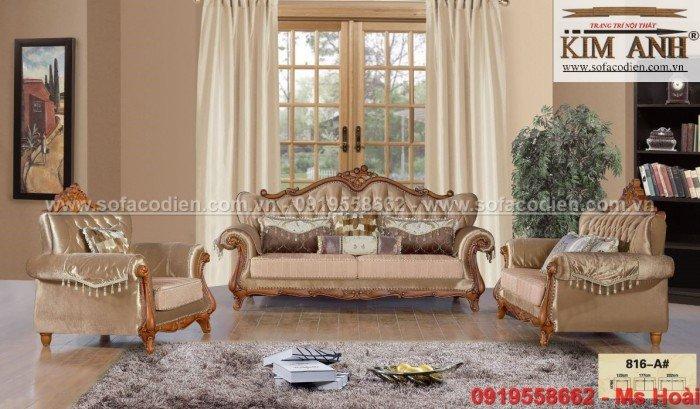 [7] Nội thất phòng khách cổ điển, sofa tân cổ điển tphcm, cần thơ giá rẻ