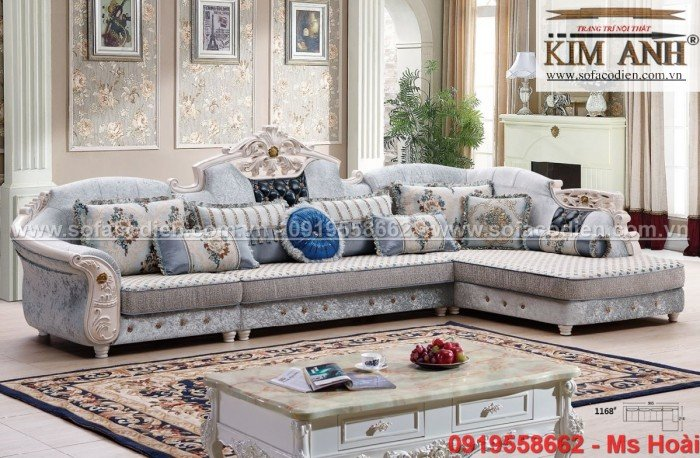 [6] Nội thất phòng khách cổ điển, sofa tân cổ điển tphcm, cần thơ giá rẻ