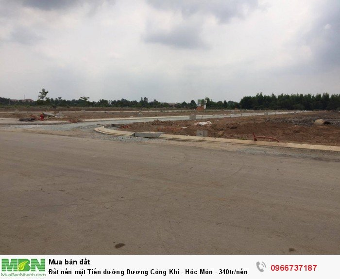 Đất nền mặt Tiền đường Dương Công Khi - Hóc Môn - 340tr/nền