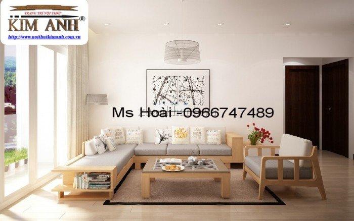Sofa gỗ chữ L, bàn ghế sofa gỗ tự nhiên TPHCM giá rẻ0