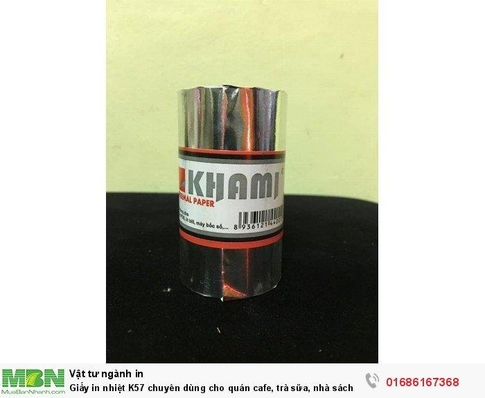 Giấy in nhiệt K57 chuyên dùng cho quán cafe, trà sữa, nhà sách, taxi...giá siêu rẻ0