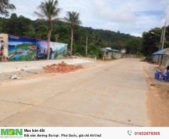 Đất nền đường Ba trại - Phú Quốc, giá chỉ 4tr1/m2