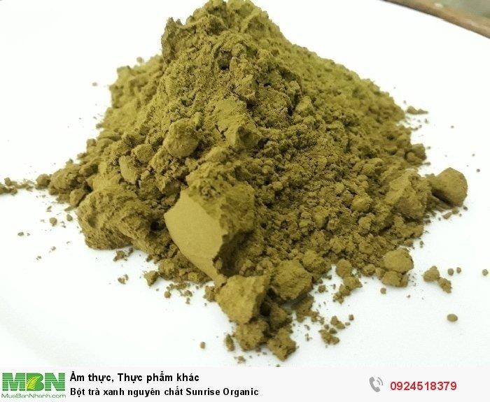 Bột trà xanh nguyên chất Sunrise Organic3
