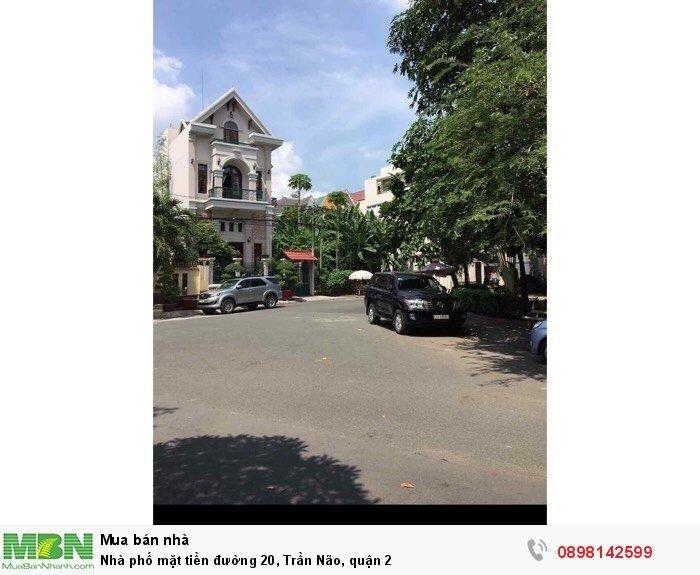 Nhà phố mặt tiền đường 20, Trần Não, quận 2