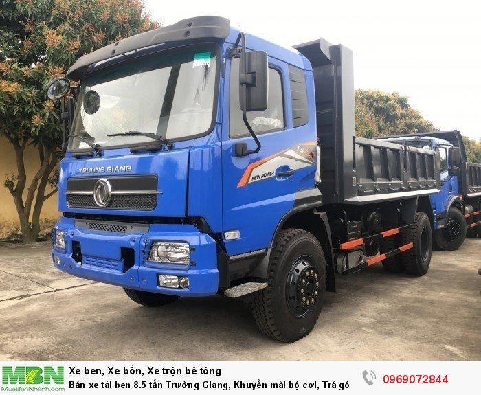 Bán xe tải ben 8.5 tấn Trường Giang, Khuyễn mãi bộ cơi, Trả góp 177tr, Giao xe ngay 0