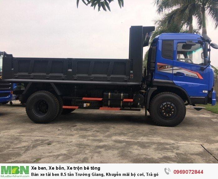 Bán xe tải ben 8.5 tấn Trường Giang, Khuyễn mãi bộ cơi, Trả góp 177tr, Giao xe ngay 1