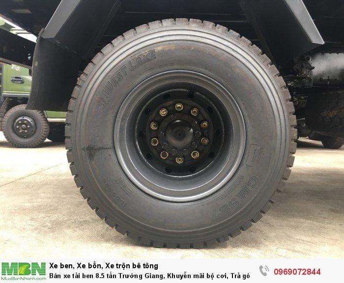Bán xe tải ben 8.5 tấn Trường Giang, Khuyễn mãi bộ cơi, Trả góp 177tr, Giao xe ngay 7