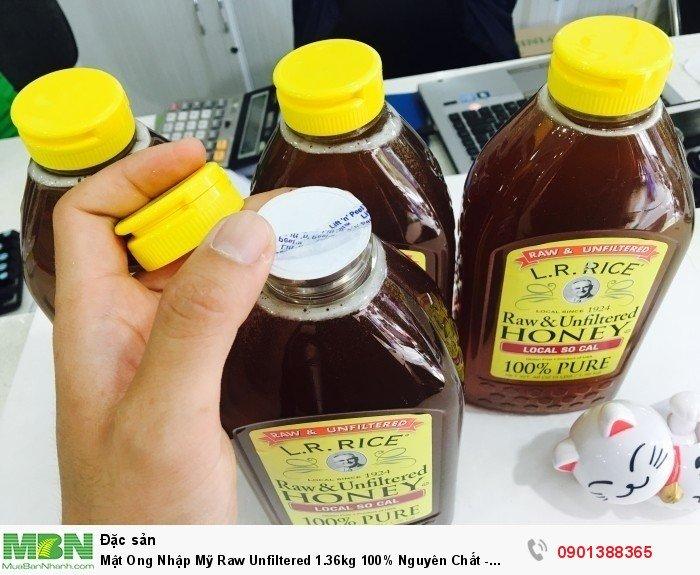 Mật Ong Nhập Mỹ Raw Unfiltered 1.36kg 100% Nguyên Chất - MSN388336