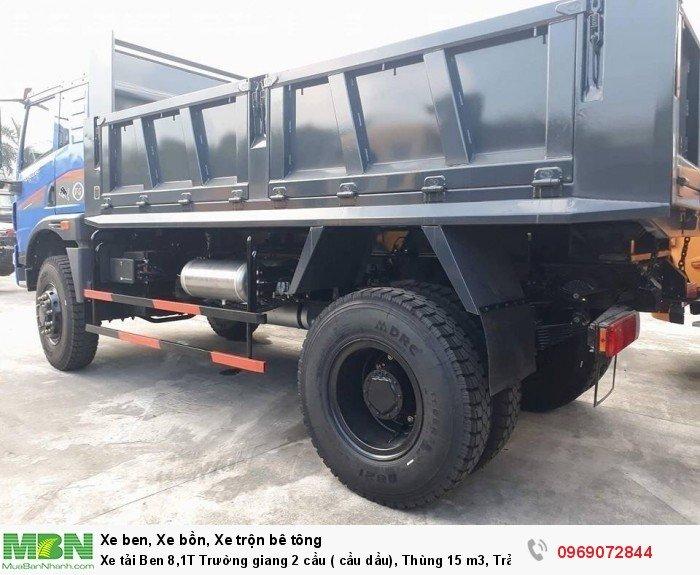 Xe tải Ben 8,1T Trường giang 2 cầu ( cầu dầu), Thùng 15 m3, Trả góp 198 triệu, Giao xe ngay 8