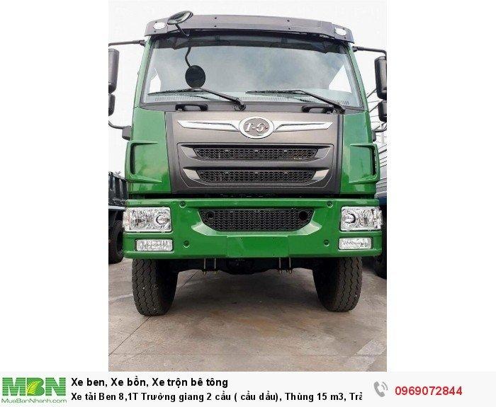 Xe tải Ben 8,1T Trường giang 2 cầu ( cầu dầu), Thùng 15 m3, Trả góp 198 triệu, Giao xe ngay 10