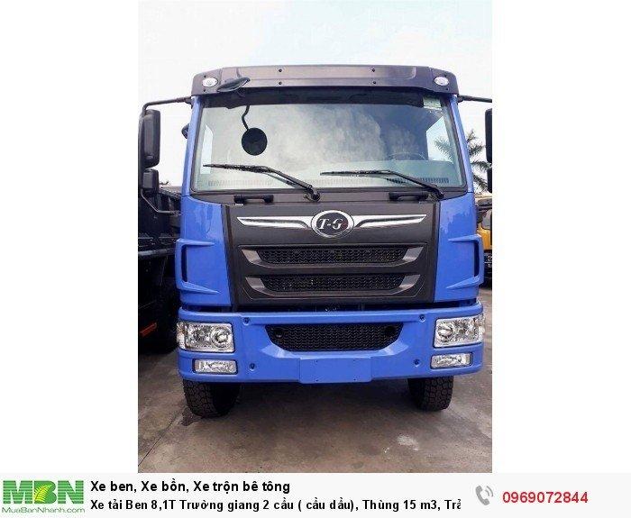 Xe tải Ben 8,1T Trường giang 2 cầu ( cầu dầu), Thùng 15 m3, Trả góp 198 triệu, Giao xe ngay 11